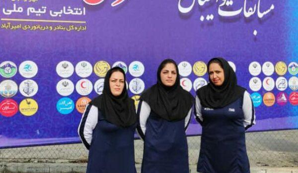 حضور بانوان داور بوشهری در دوره بازآموزی داوری والیبال ساحلی در استان مازندران
