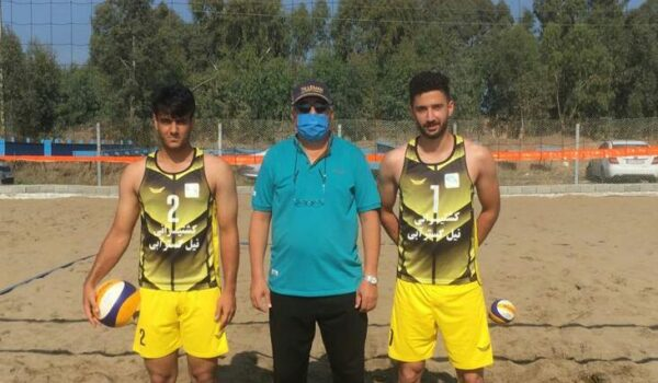 تیم والیبال ساحلی بوشهر در مسابقات زیر ۲۲ سال قهرمانی کشور